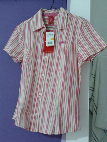 polo para dama color rosa   talla small