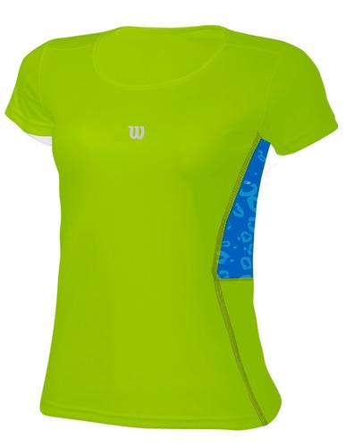 polo para niñas wilson - t-shirt tour inf w verde neon - ten
