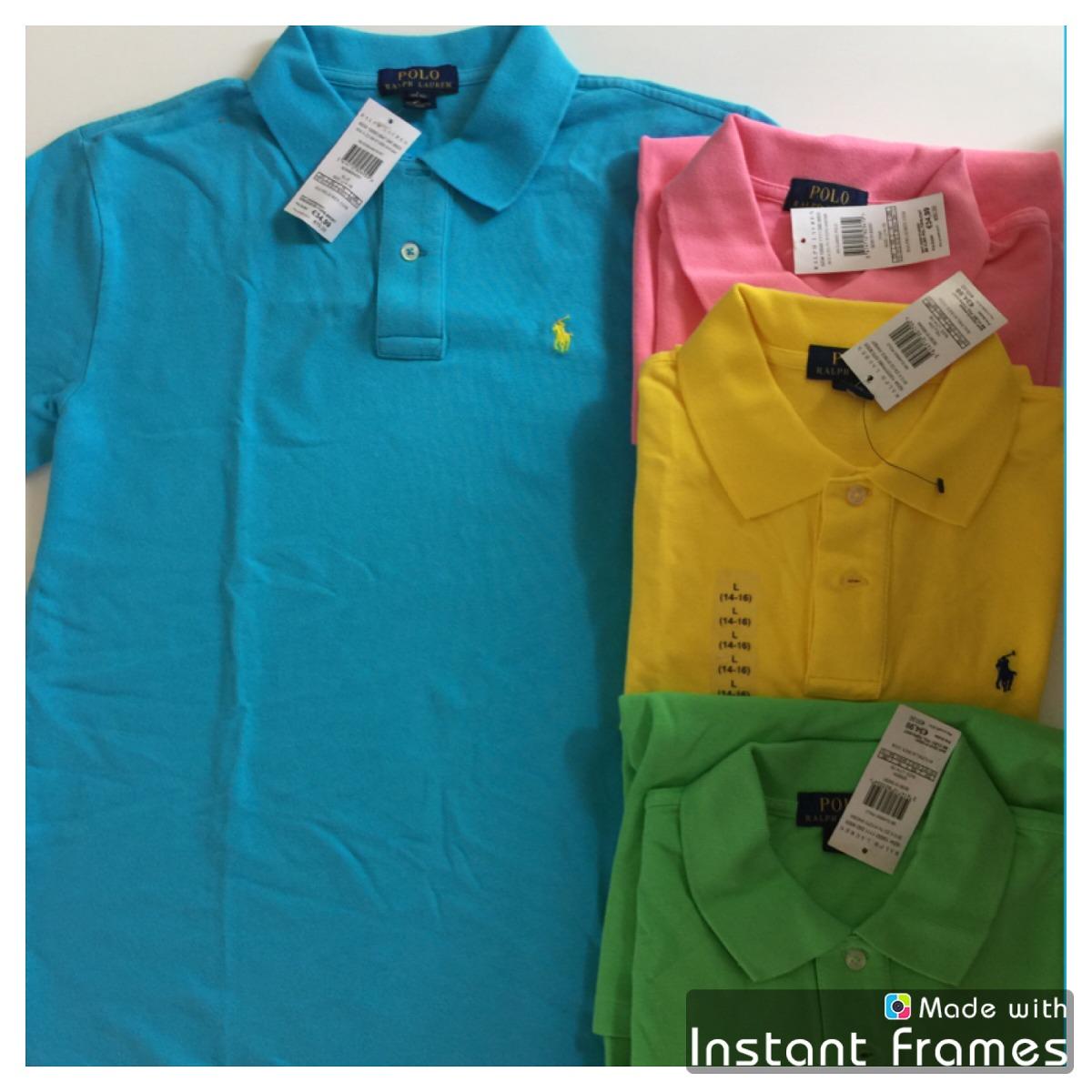 Polo Ralph Lauren Azul Niño Camisa -   620.00 en Mercado Libre b6fe9be57d3