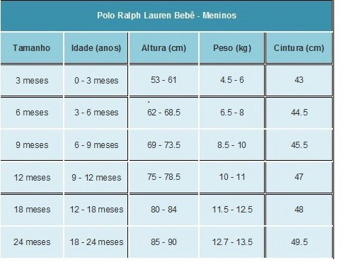 Polo Ralph Lauren Bebe Camisa Polo Big Pony 9 Meses!! - R  119 c8f24e9b7b7