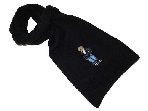polo ralph lauren - bufanda para hombre, mezcla de algodó