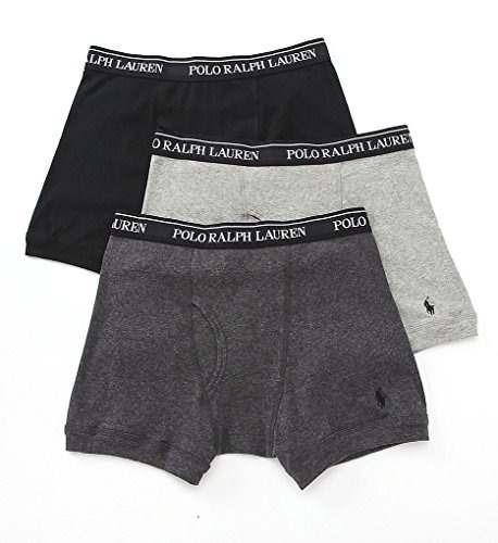 polo ralph lauren classic boxer 3 piezas de algodón, s, gris
