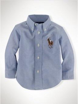 c0ff548e8bffe Polo Ralph Lauren Infantil Camisa Social Oxford Azul 3 Anos! - R ...