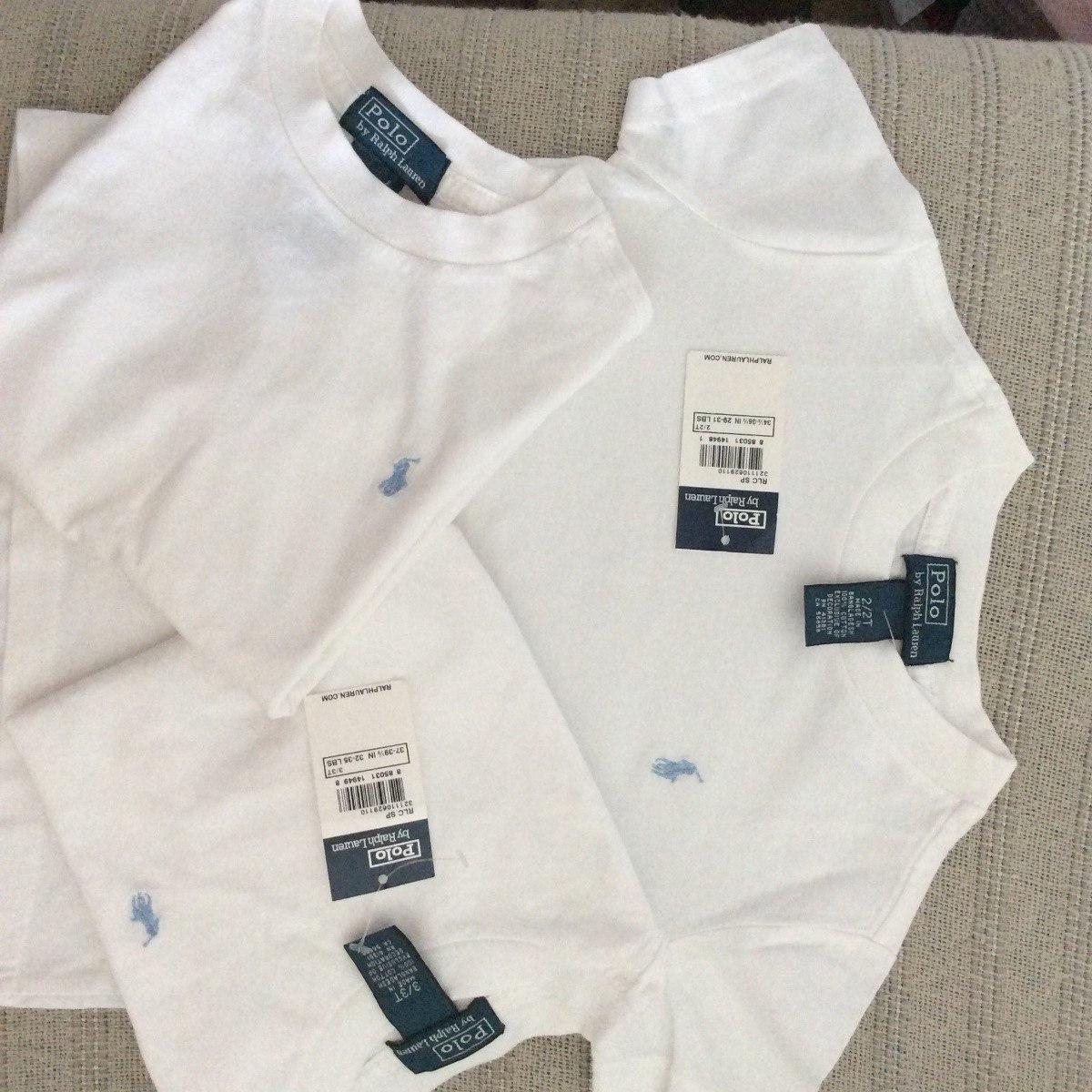 75ad843a50e0b polo ralph lauren infantil camiseta clássica branca! 2 e 3 a. Carregando  zoom.