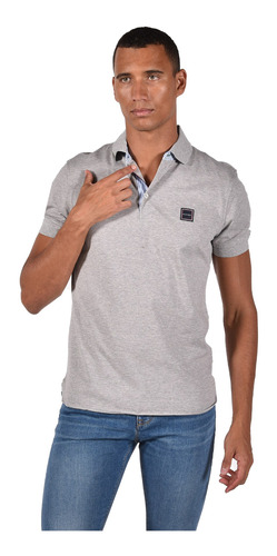 polo regular fit tommy hilfiger gris mw0mw10771-501 hombre