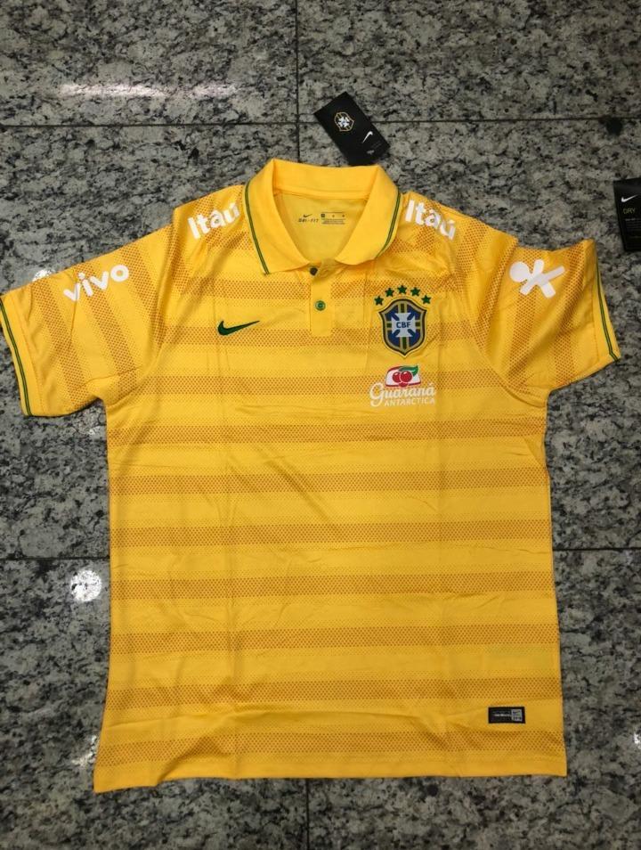1c25cc5e1d230 Polo Selecao Brasileira Nike Original Frete Gratis - R  149