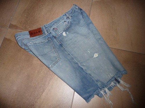polo short de jean en talla 36 original 1 sola puesta