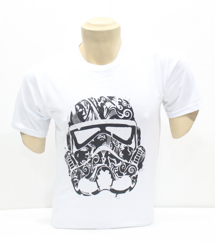 polo star wars - modelo face stormtrooper black talla l
