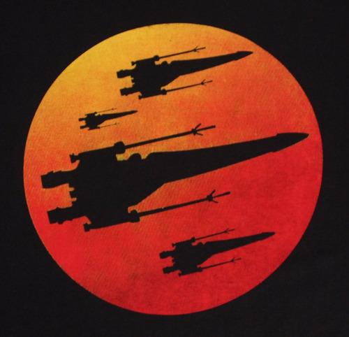 polo star wars - modelo nave x-wing al ocaso talla l