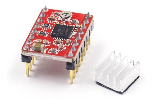 pololu a4988 c/disipador impresora 3d arduino reprap motor