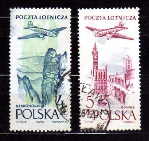 polonia 1957 * avião  over