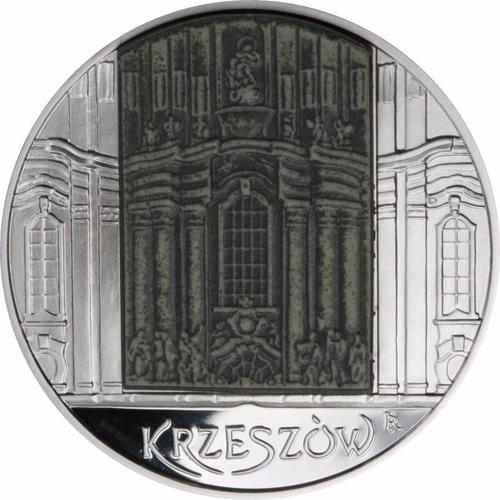 polonia 20 zloty plata - catedral de polonia -con relieve