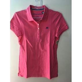 82af44601d93e Camisa Polo Aeropostale Feminina Rosa L   G Stretch Aero A87