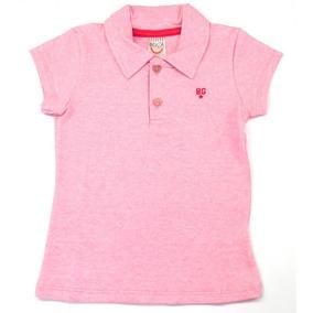 cf3fae14addc9 Polo Infantil Feminina Manga Curta Camiseta Bg7437