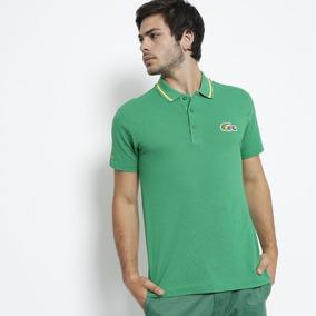96cd6049721 Camisa Masculina Polo Lacoste Sport Bandeira Do Brasil