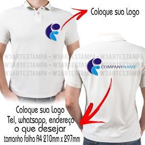 4ec25f134ed76 3 Camisetas Polo Personalizada Estampa Frente Verso Empresa