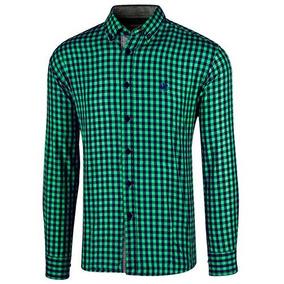 b84cefd66aba4 Camisa Casual Polo Club Original Verde Ca02050 + Envio Dgt