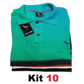 6952d877e1373 Kit 10 Camisa Polo Masculina  Frete Grátis  Atacado Revenda.