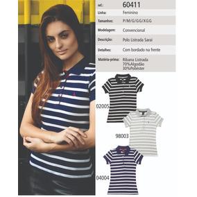 e50a3b39dde41 Kit Camisa Pólo Manga Curta Sem Bolso Sarai 60411 (2 Peças)