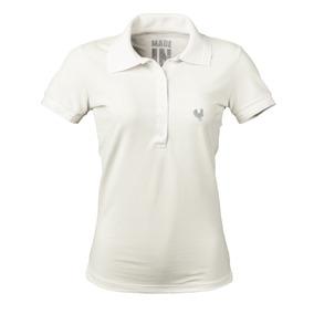 1bf96a207a3cb Camisa Polo Feminina Made In Mato Off White P2091