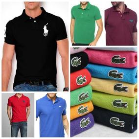 1ad2b7008 Kit 6 Camisas Polo Masculino Varias Marcas Top Promoção!