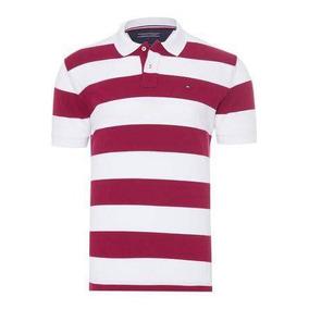 8753af8bef9f2 Camisa Polo Tommy Hilfiger Ec Block Stripe Polo Listrada
