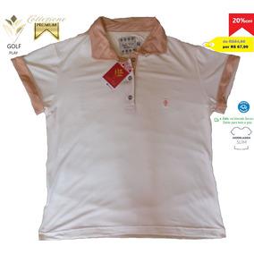 0000d744290ed Golf Play Camisa Polo Feminina Cor Bege E Rosa Nude