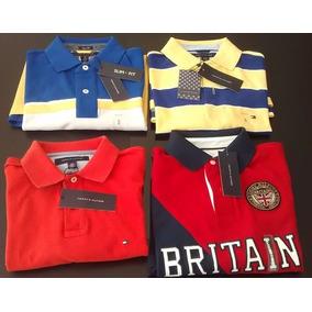 7ab148e4c42ad Camisas Tipo Polo Tommy Hilfiger 100% Nuevas Y Originales!