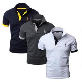 399cd1409 Kit Com 3 Camisas Polo Giraffe - Pólos Manga Curta Masculinas no ...