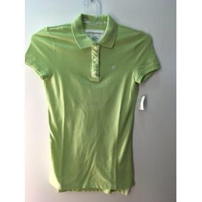 cc8b37239c5a6 Camisa Polo Aeropostale Feminina Verde S P Stretch Aero A87