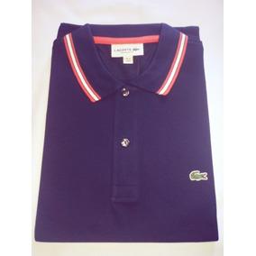 6bc84b251803a Camisa Polo Lacoste Masculina Regular Fit Listras Gola manga