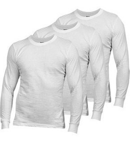 bonito diseño venta caliente más nuevo talla 40 Polos Blanco 30/1 Manga Larga Algodón Jersey S M L C/puños