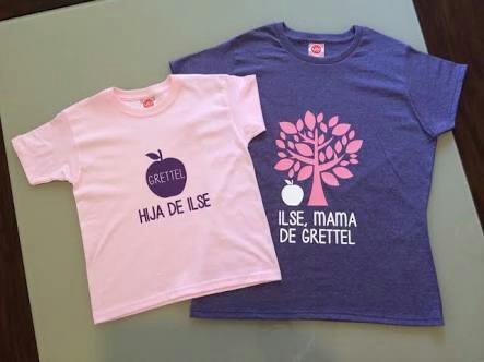 polos combo duo mamà & niña personalizado / dokimazo
