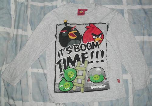 polos de algodon marca angry birds talla 4