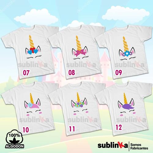 polos infantiles de unicornio personalizados para niñas