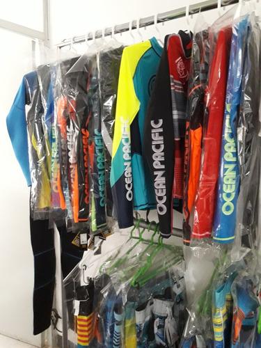 polos licrados de manga larga para surf