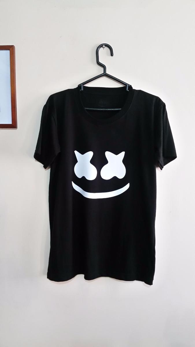 Polos Negro Estampado Dj Marshmello Diseños Hombre - S  33 fa54fbbf6edc5