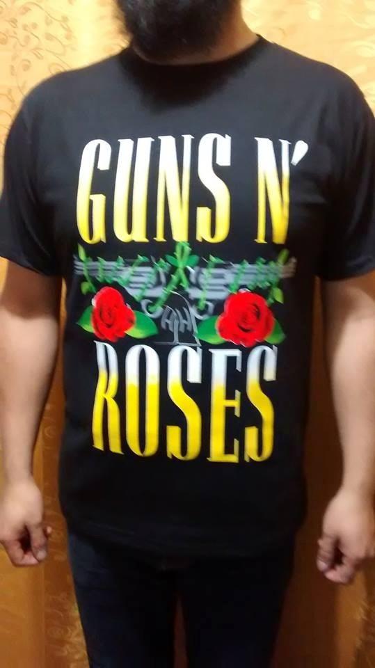 b9c02e13b09d0 Polos-poleras-chompa Guns   Roses (rock) (dama Caballero) - S  30