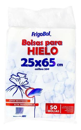 polpusa bolsa para hielo 25x65 (5kg)(caja 10 paq. c/50 pzs)