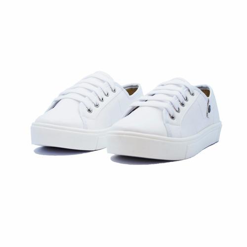 pols miss blanco calzado, dama.