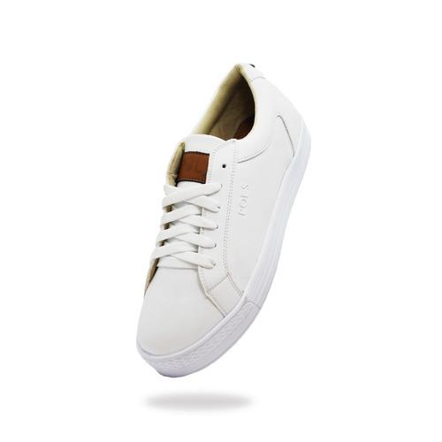 pols platform blanco calzado, dama.
