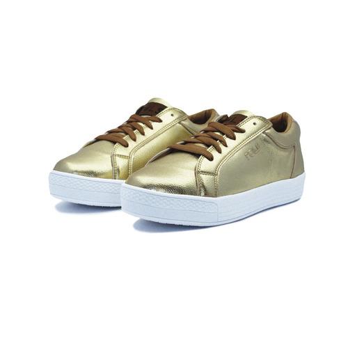 pols platform oro calzado, dama.
