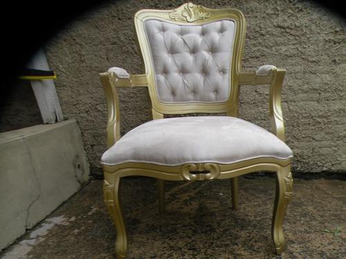 Sala De Estar Com Poltrona Luis Xv ~ Poltrona Cadeira Amamentação, Decoração Luiz Xv Capitone  R$ 933