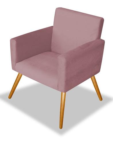 poltrona cadeira beatriz decoração sala de espera rose