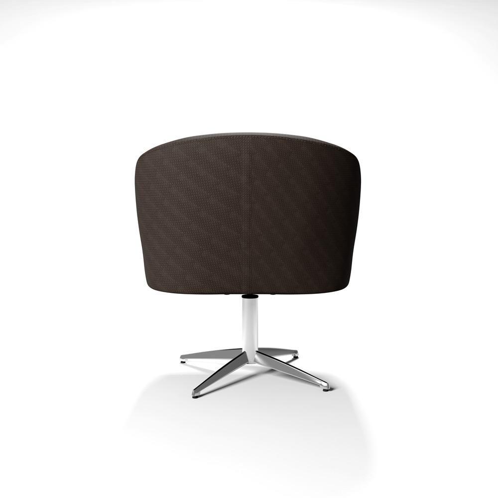 Poltrona Cadeira Decorativa Marisa Base Giratoria Aluminio - R  974 ... 0aea370d042