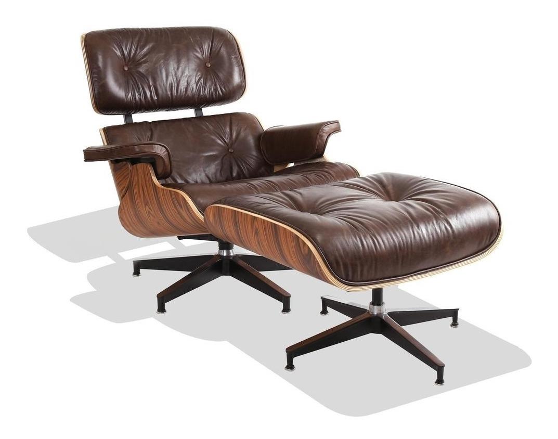 Charles Eames Poltrona.Poltrona Charles Eames C Puff Couro Natural