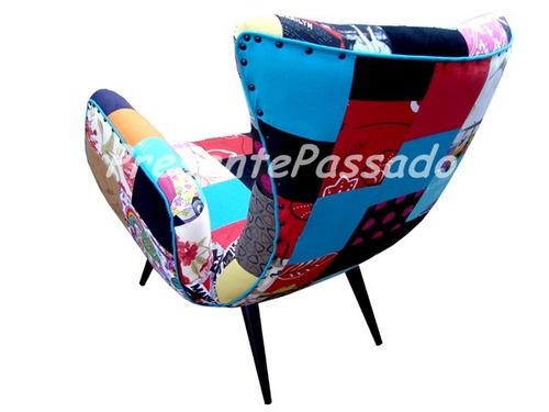 poltrona clássica i - patchwork