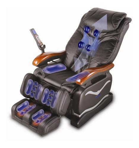 poltrona de massagem stay c/ 32 air bags-cinza -controle lcd