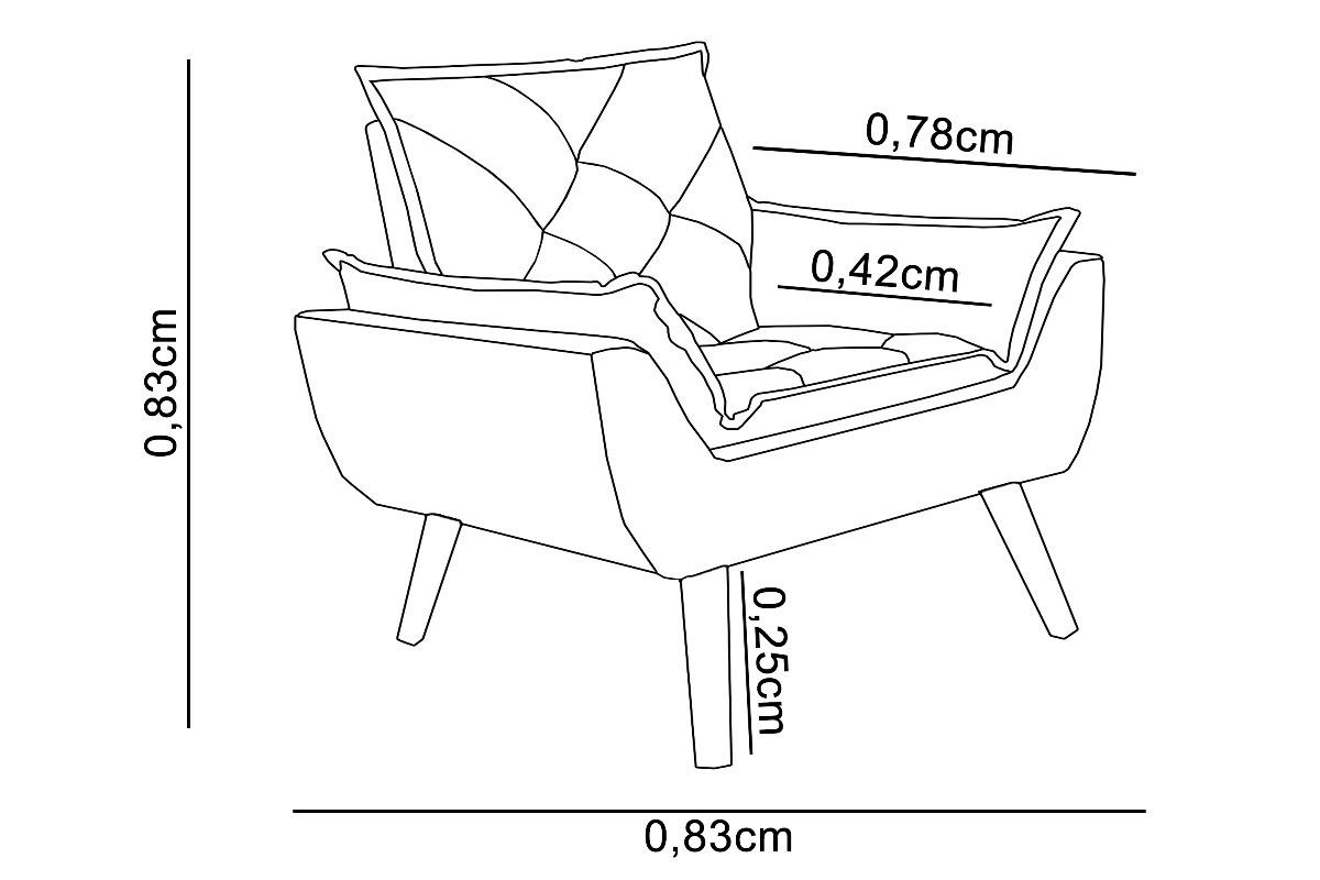 Poltrona Decorativa Opala Suede Bordo D Rost Interiores R 379 90 Em Mercado Livre
