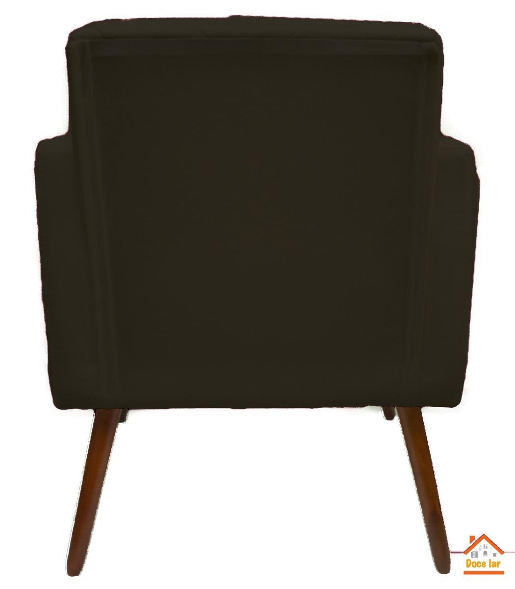 5438a69679e3 poltrona decorativa sala escritório amanda suede marrom. Carregando zoom.